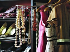 Custom closet sliding neclace holder