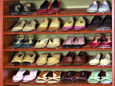 custom closet Chrome fence for shoe shelf