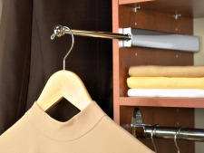 Custom closet with sliding valet rod